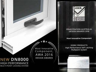 Doric wins Most Innovative Component at AWA AusFenEx 2016